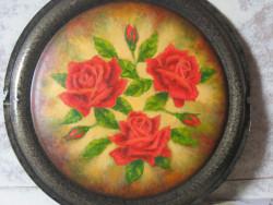 Rose in tondo