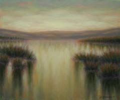Alba sulla laguna